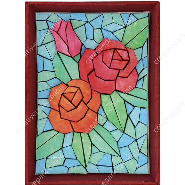 Mozaik Kertas 3d Mawar Mozaik Kertas 3d Karya Seni Canon Creative Park