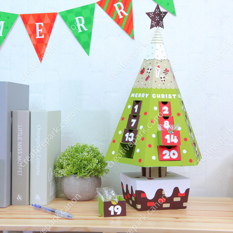 Advent calendar (Christmas Tree),Advent calendars,Calendars,Christmas,Number,Christmas Tree,calendar,party,decoration,reindeer,tree,present,Santa Claus