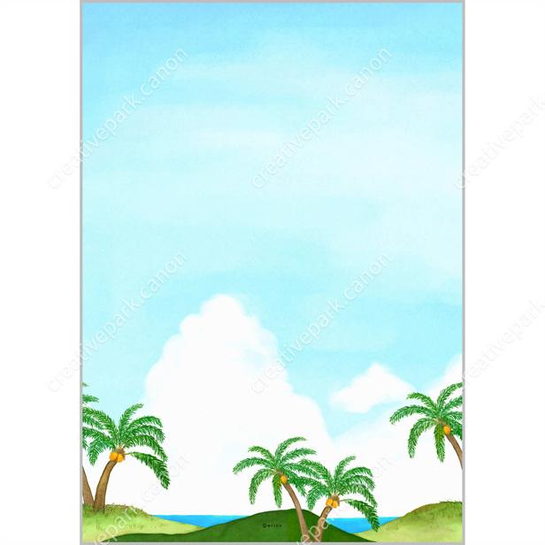 palmtree 0001 summer stationery card canon creative park