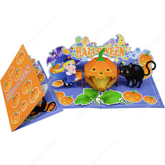 Pop Up Card Halloween Black Cat And Witch Halloween Pop Up