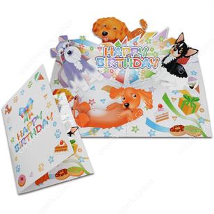 Tarjeta desplegable imprimible y armable de cumpleaños. Manualidades a Raudales.