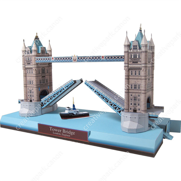 Tower Bridge, England - Europe - Architecture - Paper Craft - Canon