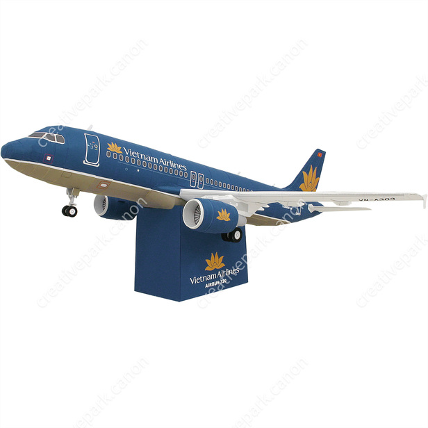 Vietnam Airlines Airbus320 Aircraft Vehicles Paper Craft Canon Creative Park