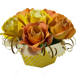 Bouquet RosesDecorativePaper CraftFathers DayyellowInterior