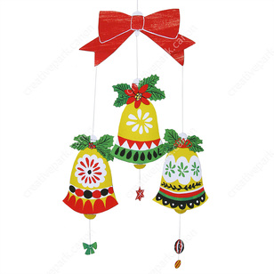 paper christmas bell decorations