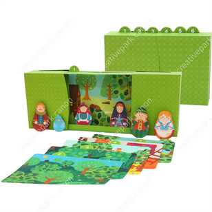 Hansel et Gretel,Jouets,Créations en papier,maison,gâteau,Conte pour enfants,Livre d'images,Boîte Livre d'Images