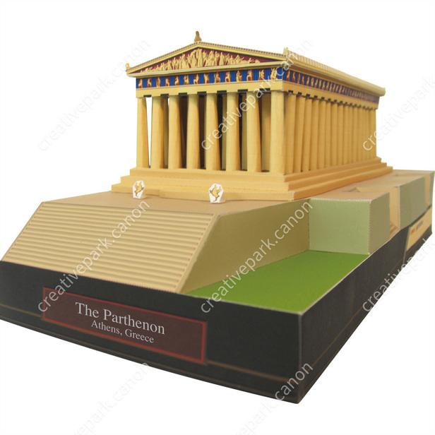 the parthenon greece europe architecture paper craft canon