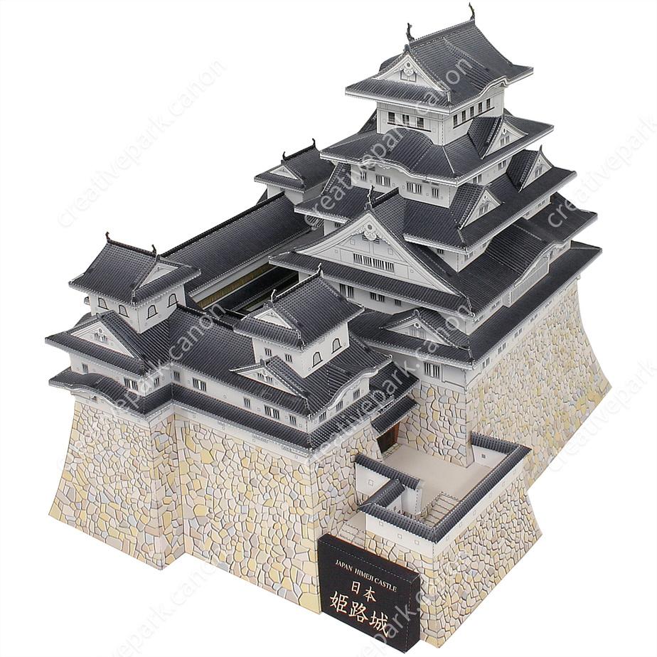 Замок Химэдзи, Япония,Архитектурные сооружения,Поделки из бумаги,Азия и Океания,белая цапля,мировое наследие,Замок ,здание