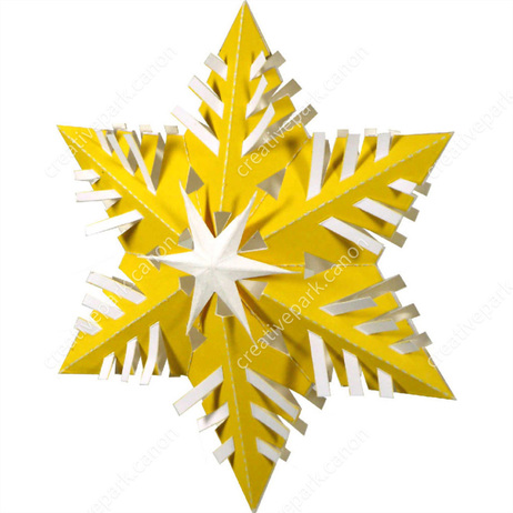 Christmas: Christmas-tree Ornaments (Snowflake A),Home and Living,Paper Craft,Christmas,party,yellow,decoration,star