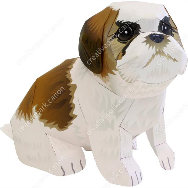 Shih Tzu Pet Series Animals Paper Craft Canon Creative Park