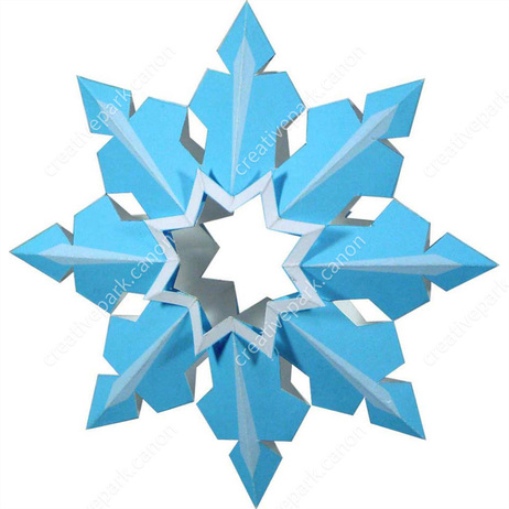 Christmas: Christmas-tree Ornaments (Snowflake B),Home and Living,Paper Craft,Christmas,party,Snow,decoration
