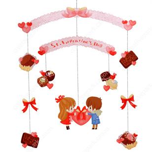 Móvil imprimible y armable del Día de San Valentín 2 / Valentine´s Day 2. Manualidades a Raudales.