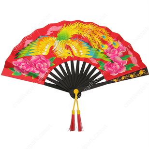 chinese fan lucky items decorative paper craft canon