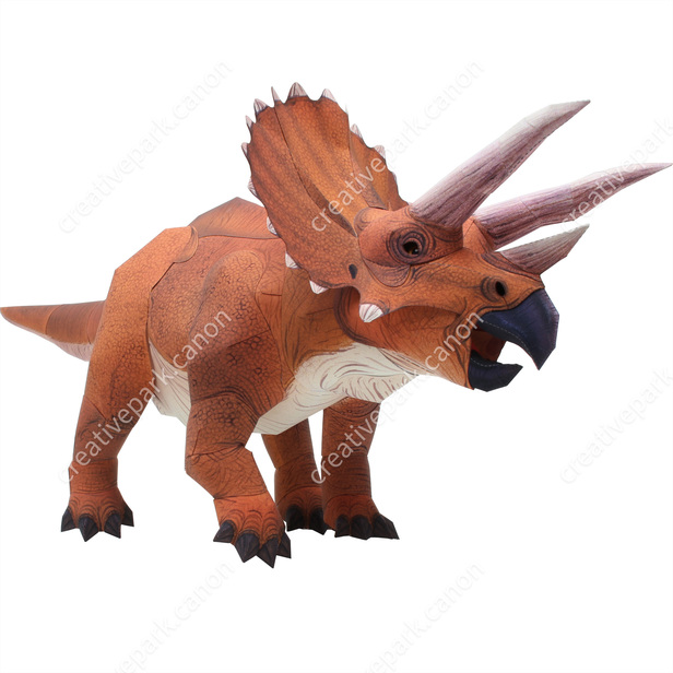 triceratops dinosaurs science paper craft canon creative park