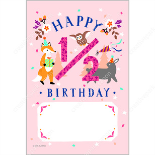 Half birthday 0002 baby greeting cards card canon creative half birthday 0002greeting cardscardhalf birthdaybirthdaybirthday bookmarktalkfo Image collections