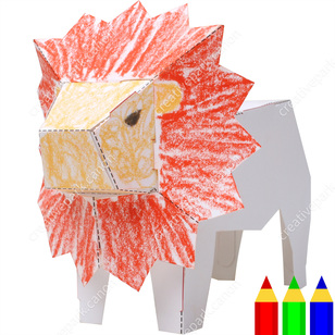 Drawing Papercraft LionEducationalPaper CraftDrawing PapercraftColoringAnimals