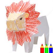 Paper craft canon creative park drawing papercraft lion altavistaventures Choice Image