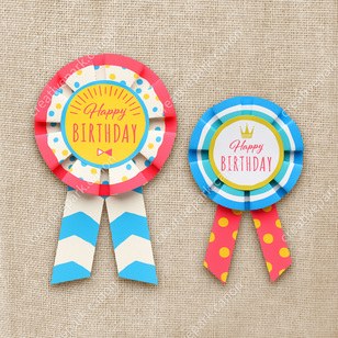 rosettes happy birthday rosettes ornaments accessories home