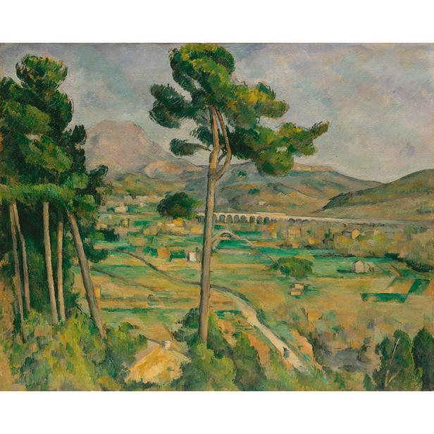 Mont Sainte Victoire And The Viaduct Of The Arc River Valley Cezanne Peinture Occidentale Peintures Celebres Canon Creative Park