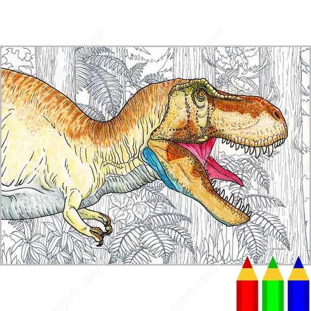 Boyama Sayfasi Bilim Dinozorlar 02 Boyama Sanat Canon
