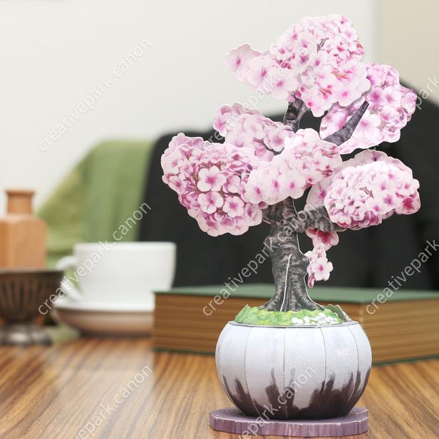 Bonsai Paper Craft Cherry Blossoms Ornamental Plant Plants Home And Living Canon Creative Park